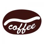Naklejka Ziarno kawy z napisem coffee nr M18