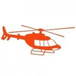 Welurowa naklejka na ścianę Helikopter W16