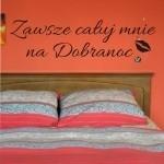 Szablon do dekoracji napis Całuj na dobranoc... S11