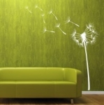 Naklejka welurowa dekoracyjna Dmuchawiec z pyłkami W3