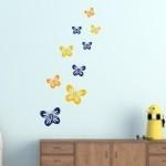 Szablony dekoracyjne Motyle S13