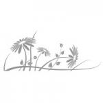 Naklejka na lustro Kwiaty L12