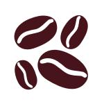 Naklejka welurowa ścienna Ziarnka kawy W11