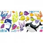 Podwodny świat Zestaw naklejek K1 - 46 elementów