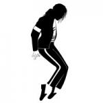Naklejka welurowa ścienna Michael Jackson W13