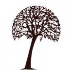 Naklejka welurowa ścienna Drzewo W8