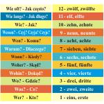 Naklejki 64x10 cm na schody do szkoły - język niemiecki nr K8
