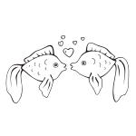 Naklejki na kafelki Para rybek nr K17