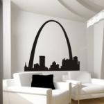 Szablon ścienny Miasto St.Louis S16