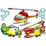 Naklejki Samoloty zestaw K6