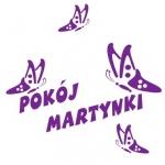 Naklejka imię Martynka z motylkami M4