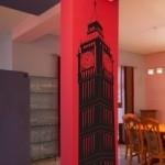 Naklejka welurowa ścienna Wieża Big Ben W23