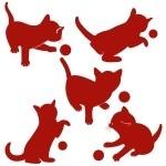 Naklejka welurowa ścienna Zestaw kotków W9