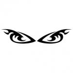 Naklejka welurowa na ścianę Oczy W16