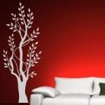 Naklejka welurowa dekoracyjna Drzewo W26