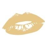 Naklejka welurowa ścienna Tajemnicze usta W24