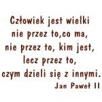 Naklejka welurowa ścienna cytat Jan Paweł II W19