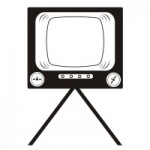 Naklejka ścienna Telewizor M15