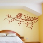 Naklejka welurowa dekoracyjna Motyw kwiatowy W5