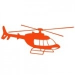 Szablon ścienny Helikopter S3