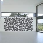 Welurowa naklejka na ścianę Flora W26