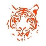 Naklejka na ścianę Głowa tygrysa M1