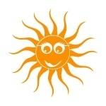 Szablon do pomalowania Uśmiechnięte słoneczko S3