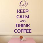 Welurowe napisy po angielsku Keep calm and drink coffee W20