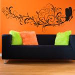Naklejka na ścianę Motyl z kwiatami M26