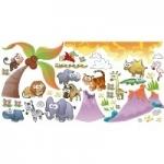 Naklejki dekoracyjne Zwierzęta świata K16 - zestaw