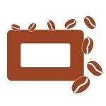 Naklejka na podwójny włącznik z ziarenkami kawy M12