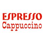 Naklejki na kafelki Napisy Espresso i Cappuccino nr K14