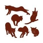 Naklejki welurowe do dekoracji Koty W8