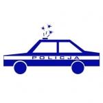 Naklejka na ścianę Policyjny radiowóz M22