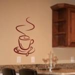 Welurowa naklejka na ścianę Filiżanka kawy W4
