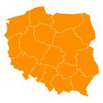 Naklejka ścienna Mapa Polski z podziałem na województwa M18