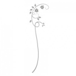 Naklejka na lustro Motyw rośliny L5
