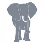 Naklejka welurowa Słoń W13