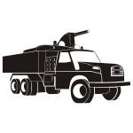 Szablon dekoracyjny Wóz Strażacki S4