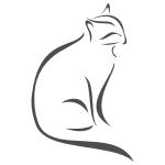 Naklejka dekoracyjna Kot w konturach M34