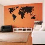 Welurowa naklejka na ścianę Mapa świata z podziałem na państwa W21