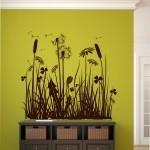 Naklejki na ścianę Dmuchawce z kwiatami M15