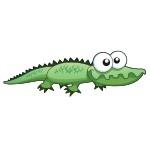 Naklejka na ścianę Krokodyl K4