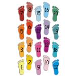 Naklejki szkolne na podłogę, dziecięce stópki z cyferkami nr K18