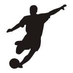 Naklejka tablicowa Piłkarz T2