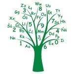 Naklejka welurowa na ścianę Drzewo edukacyjne W4