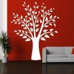 Naklejka welurowa dekoracyjna Drzewo z listkami W13