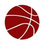 Naklejka welurowa na ścianę Piłka koszykowa W7