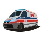 Naklejka Ambulans K17