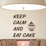 Szablon ścienny z napisami Keep calm...S25